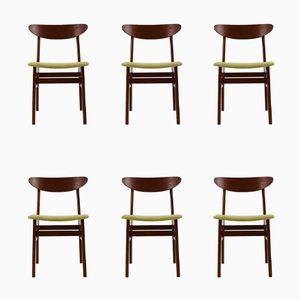 Teak Stühle von Farstrup Møbler, 1960er, 6er Set