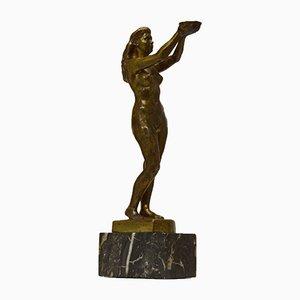 Figura Sygin de bronce de Nils Möllerberg para Herman Bergman, años 50