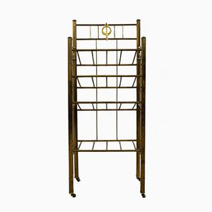 Antique Magazine or Sheet Music Stand in Brass, 1890s