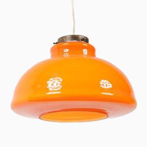 Lampe à Suspension en Verre Orange