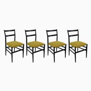 Modell Leggera Stühle von Gio Ponti für Cassina, 1952, 4er Set