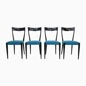 Italian Dining Chairs by Melchiorre Bega, 1950s, Set of 4