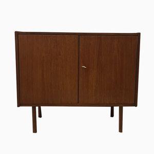 Vintage Teak Cupboard with Round Legs, 1960s
