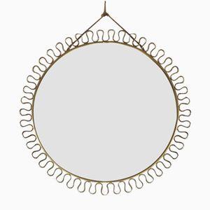 Vintage Brass Loop Wall Mirror