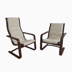 Vintage Lamello Easy Chairs by Yngve Ekstrom for Swedese, Set of 2