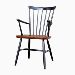 Skandinavischer Vintage Teak Furnier Stuhl