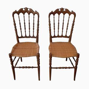 Vintage Chiavari Stühle, 1950er, 2er Set