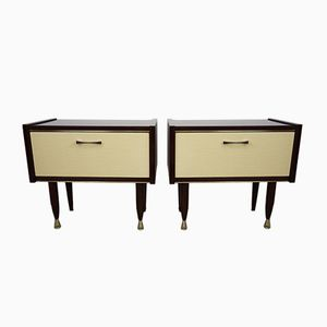 Bedside Tables, 1950s, Set of 2