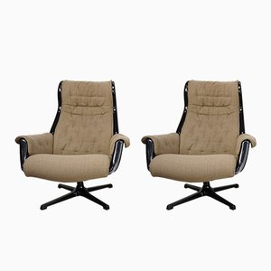 Galaxy Swivel Chairs by Yngvar Sandström & Alf Svensson for Dux, 1960s, Set of 2
