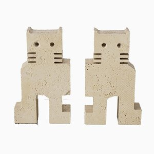Travertine Bookends by Fratelli Mannelli, 1970s, Set of 2