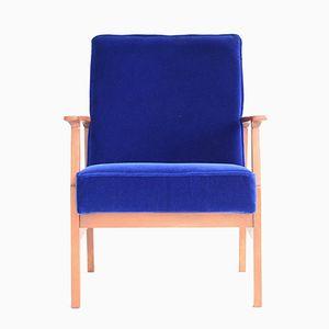 Polish Blue Armchair, 1960s