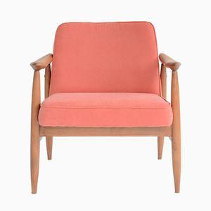 Vintage Coral Armchair by Kedziorek