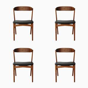 Skandinavische Teak Stühle, 1960er, 4er Set