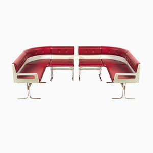 Vintage Ice Cream Parlour Benches, Set of 2