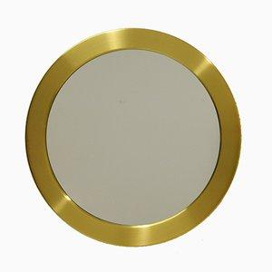 Circular Brass Mirror from Glasmäster Markaryd, 1960s