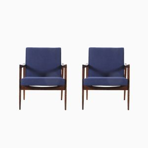 Polish Armchairs by Czeslaw Knothe, 1960s, Set of 2