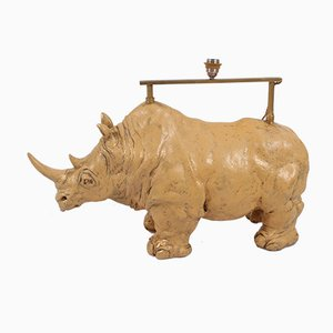 Vintage Floor Lamp in the Form of a Rhino