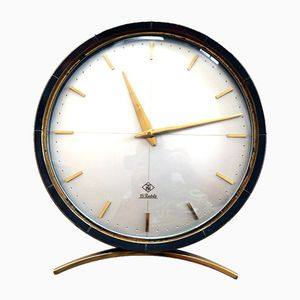 Reloj de mesa redondo de TN Telenorma, años 50