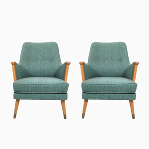 Swedish Lounge Chairs, 1960s, Set of 2