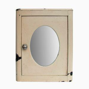 Industrieller Vintage Werkstatt Schrank mit Spiegel