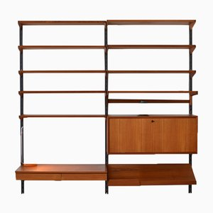 Modular Teak Wall Unit by Kai Kristiansen for Feldballes, 1960s