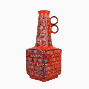 Vaso vintage rosso di Bodo Mans per Bay Keramik, anni '60