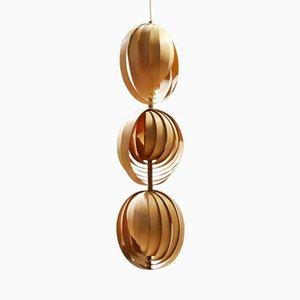 Pine Lamello Pendant Lamp by Hans-Agne Jakobsson for Markaryd, 1960s