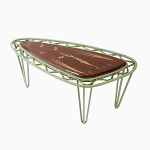 Mid-Century French Steel & Resin Tripod Side Table, 1950s