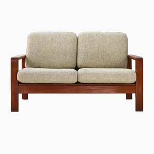 Teak & Wool 2-Seater Sofa, 1970s