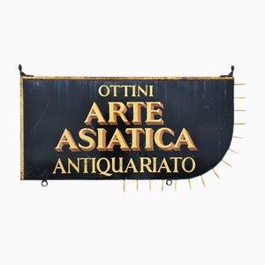 Letrero de tienda italiano antiguo vintage, años 50