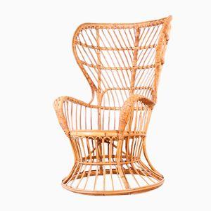 Wicker Armchair by Gio Ponti, 1950s