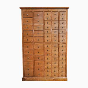 Antique English Oak Apothecary Cabinet