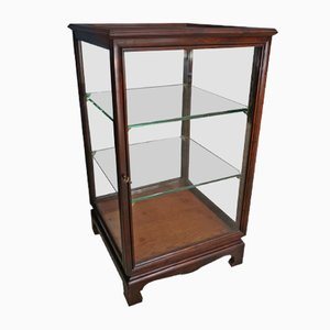 English Mahogany Display Cabinet, 1920s