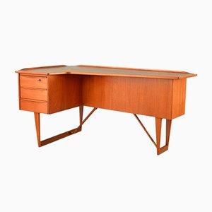 Teak Boomerang Desk by Peter Løvig Nielsen for Hedensted Møbelfabrik, 1960s