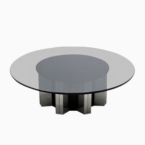 Grande Table Basse Ronde par Willy Rizzo, 1970s