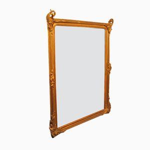 Großer vergoldeter Spiegel, 1890er