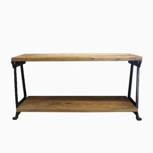Industrial Console Table, 1950s