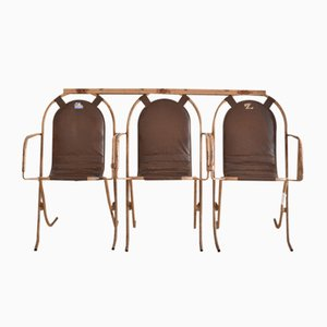 Vintage Garden Chairs by Harry Sebel for Stak-a-Bye, 1950s, Set of 3