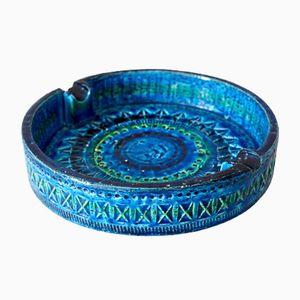 Italienischer Vintage Rimini Blue Aschenbecher von Aldo Londi für Bitossi
