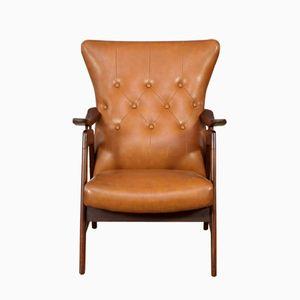 Mid-Century Dutch Wingback Armchair