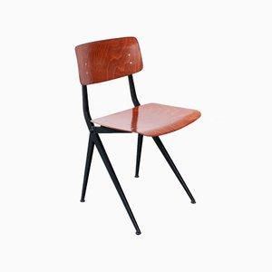 Vintage Pagholz Compass V-Gestell Stuhl von Ynske Kooistra für Marko