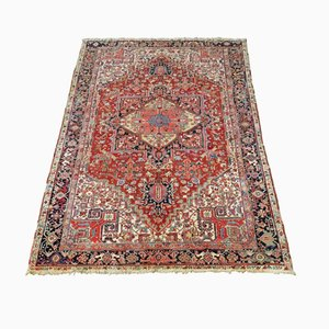 Antique Persian Heriz Carpet with All Natural Light Colors