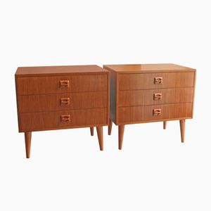 Mid-Century Danish Teak Nightstands, Set of 2