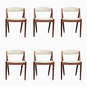 Dänische Vintage Teak Stühle von Kai Kristiansen, 6er Set