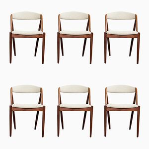 Vintage Danish Teak Chairs by Kai Kristiansen, Set of 6