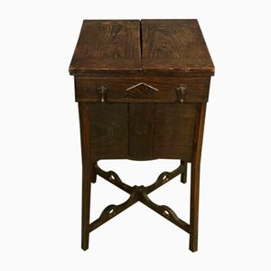 19th-Century Worker's Cabinet in Oak