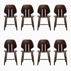 Vintage Danish Teak Dining Chairs, Set of 8