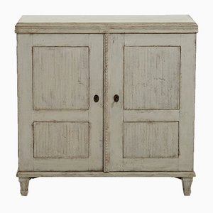 Antique Gustavian Carved Cupboard