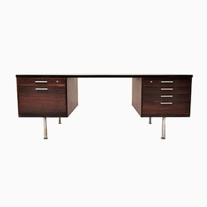 Mid-Century Brazilian Rosewood Executive Desk by Kai Kristiansen for Feldballes Møbelfabrik, 1960s