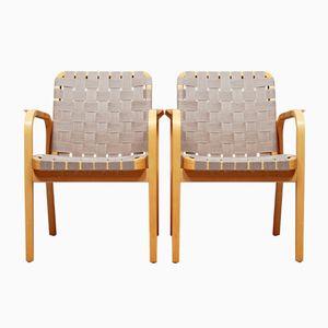 Model 45 Armchairs by Alvar Aalto for Artek, 1947, Set of 2